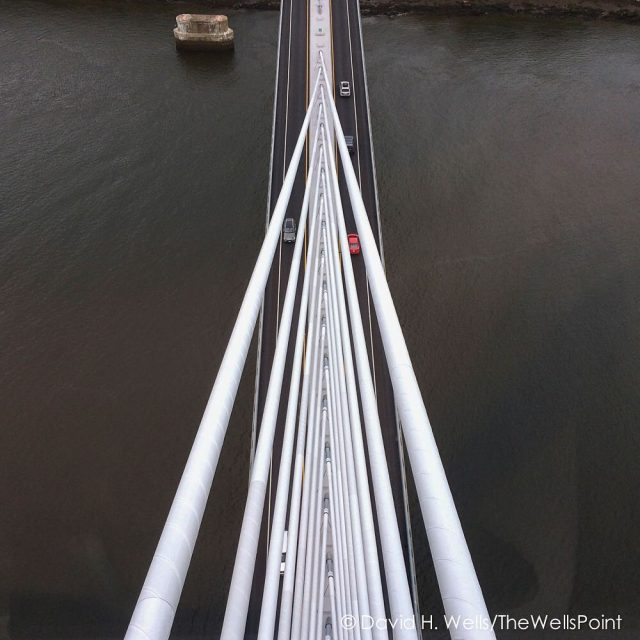 The support cables of the Penobscot Narrows Bridge seen fromhellip