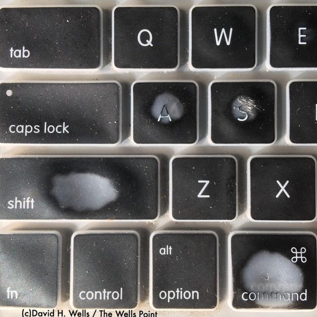 The worn keys on my silicon keyboard cover suggest thathellip